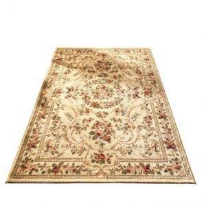 Oriental Weavers Romanttisesti Ruusukuvioitu Matto Beige