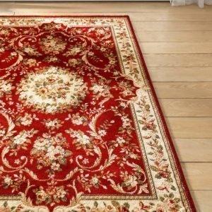 Oriental Weavers Romanttisesti Ruusukuvioitu Matto Punainen