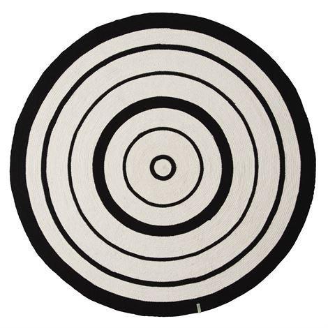 Oyoy Circle Matto Ø 120 cm Musta-Valkoinen