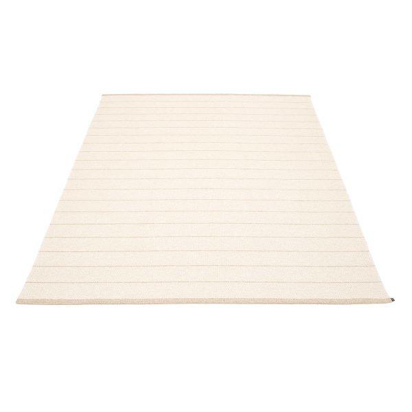 Pappelina Carl Matto Vanilla / White 180x260 Cm