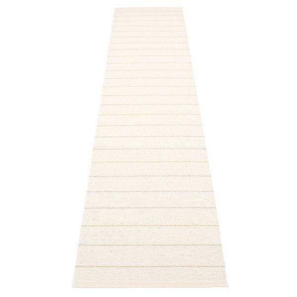 Pappelina Carl Matto Vanilla / White 70x350 Cm