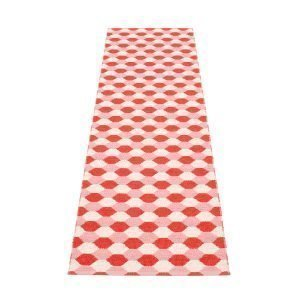 Pappelina Dana Matto Coral Red / Piglet 70x250 Cm