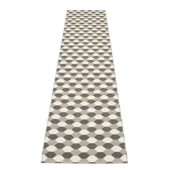 Pappelina Dana Matto Warm Grey / Charcoal 70x335 Cm