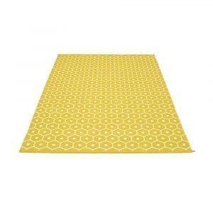 Pappelina Honey Matto Mustard / Vanilla 180x260 Cm