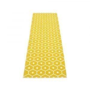 Pappelina Honey Matto Mustard / Vanilla 70x160 Cm