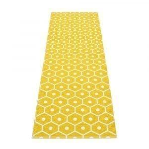 Pappelina Honey Matto Mustard / Vanilla 70x350 Cm