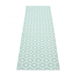 Pappelina Honey Matto Pale Turquoise / Vanilla 70x350 Cm
