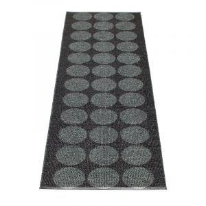 Pappelina Hugo Matto Black Metallic / Black 70x160 Cm