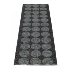 Pappelina Hugo Matto Black Metallic / Black 70x400 Cm