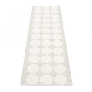 Pappelina Hugo Matto White Metallic / Fossil Grey 70x160 Cm