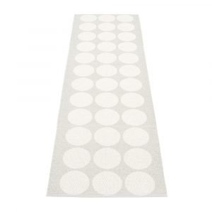 Pappelina Hugo Matto White Metallic / Fossil Grey 70x240 Cm