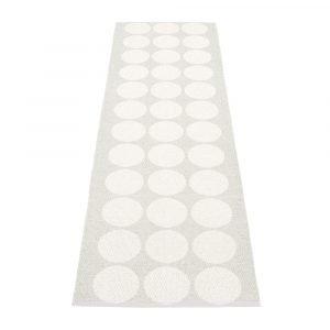 Pappelina Hugo Matto White Metallic / Fossil Grey 70x320 Cm