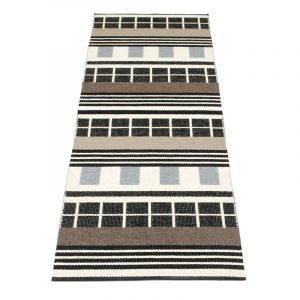 Pappelina James Matto Black & White 70x240 Cm
