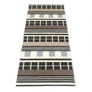 Pappelina James Matto Black & White 70x360 Cm