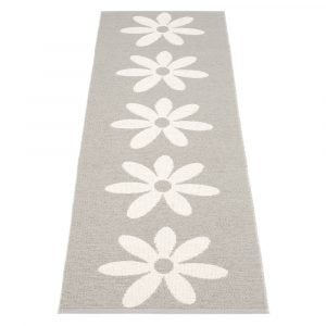 Pappelina Lilo Matto Warm Grey / Vanilla 70x250 Cm