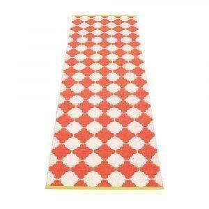 Pappelina Marre Matto Coral Red / Vanilla / Mustard 70x225 Cm