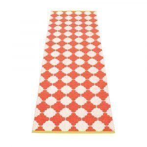 Pappelina Marre Matto Coral Red / Vanilla / Mustard 70x375 Cm