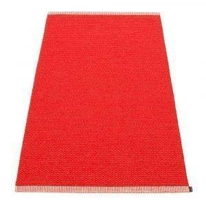 Pappelina Mono Matto Coral Red / Red 85x260 Cm