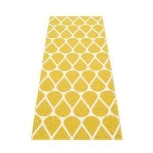 Pappelina Otis Muovimatto Mustard Vanilla 70x200 Cm