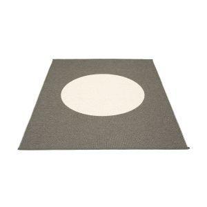 Pappelina Vera One Ovimatto Charcoal / Vanilla 180x230 Cm