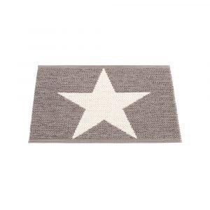 Pappelina Viggo Star Ovimatto Metallic Mud / Vanilla 70x50 Cm