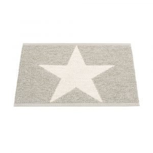 Pappelina Viggo Star Ovimatto Stone Metallic / Vanilla 70x50 Cm