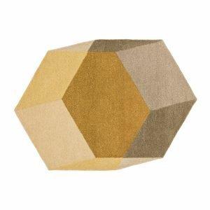 Puik Iso Hexagon Matto Keltainen