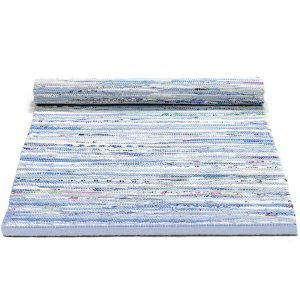 Rug Solid Cotton Matto Blue Mix 65x135 Cm