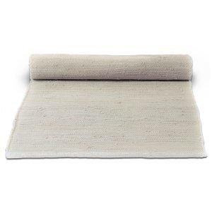 Rug Solid Cotton Matto Desert White 65x135 Cm
