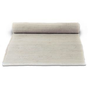 Rug Solid Cotton Matto Desert White 75x200 Cm