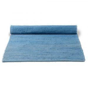 Rug Solid Cotton Matto Eternity Blue 65x135 Cm