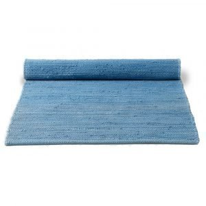 Rug Solid Cotton Matto Eternity Blue 75x300 Cm