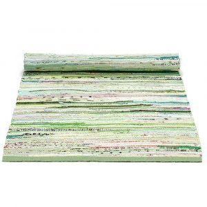 Rug Solid Cotton Matto Green Mix 65x135 Cm