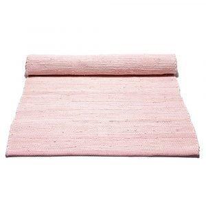 Rug Solid Cotton Matto Misty Rose 75x300 Cm