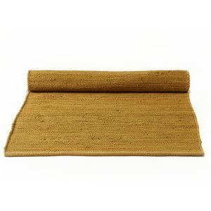 Rug Solid Cotton Matto Reuna Burnish Amber 65x135 Cm
