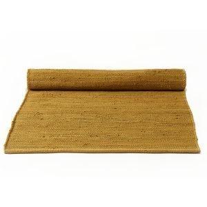 Rug Solid Cotton Matto Reuna Burnish Amber 75x200 Cm