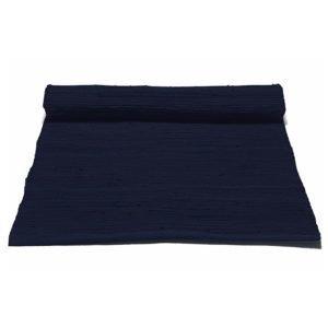 Rug Solid Cotton Matto Reuna Deep Ocean Blue 75x300 Cm