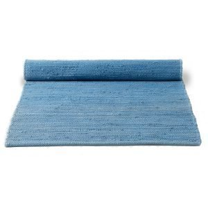 Rug Solid Cotton Matto Reuna Eternity Blue 65x135 Cm