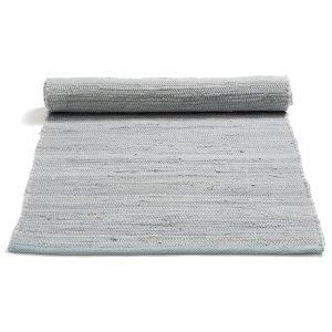 Rug Solid Cotton Matto Reuna Harmaa 65x135 Cm