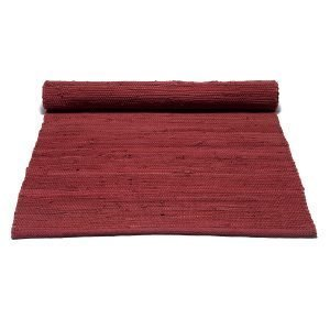 Rug Solid Cotton Matto Reuna Rosewood Red 75x300 Cm