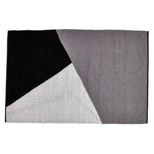 Rug Solid Horizon Villamatto Musta / Harmaa / Valkoinen 160x240 Cm