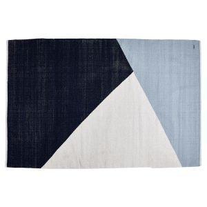 Rug Solid Horizon Villamatto Sininen / Valkoinen 160x240 Cm