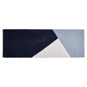 Rug Solid Horizon Villamatto Sininen / Valkoinen 80x240 Cm