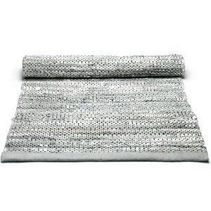 Rug Solid Leather Nahkamatto Reuna Vaaleanharmaa 75x200 Cm