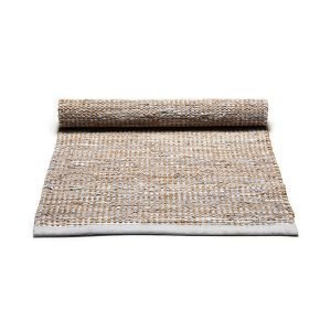 Rug Solid Matto Jute / Leather Pehmeä Harmaa 75x200 Cm