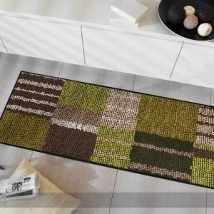 Salonloewe Matto Aboriginee Stripes Green 60x180 Cm
