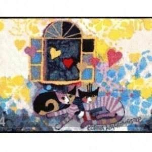 Salonloewe Matto Flying Hearts 50x75 Cm