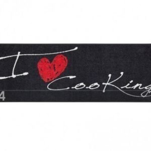 Salonloewe Matto I Love Cooking Heart 60x180 Cm