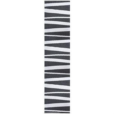 Sofie Sjöström Design Åre Matto Musta Valkoinen 70x300 cm