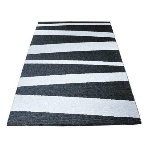 Sofie Sjöström Design Åre Matto Musta-Valkoinen Suuri 150x220 cm